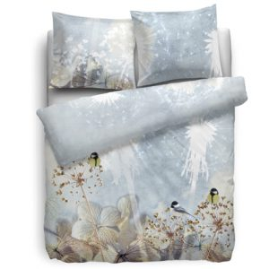 HNL Living Refined-Satin Ice Flowers dekbed